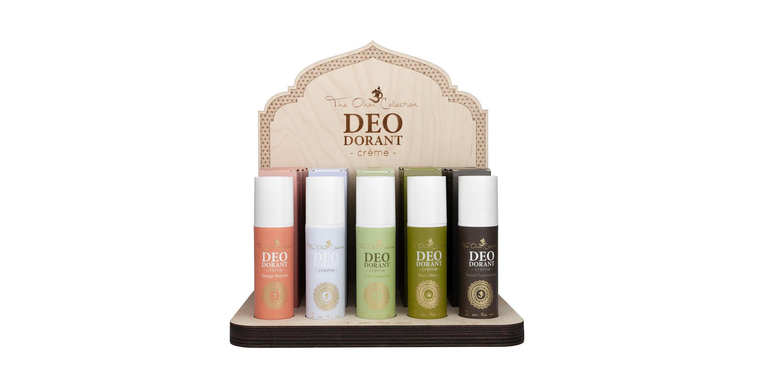 deodorant creme display