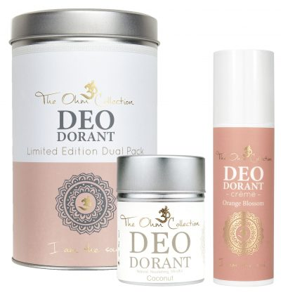 deodorant creme powder dual pack effective natural vegan organic